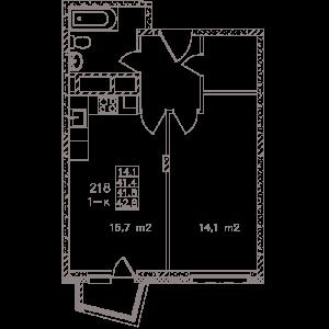 Планировка однокомнатной квартиры в Май